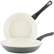 Farberware Go Healthy Gray Open Frying Pans Twin Pack