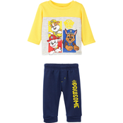 Nickelodeon Infant Boys PAW Patrol Fleece Top and Pants 2 pc. Set