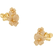 Kate Spade Precious Pansy Pave Cluster Stud Earrings