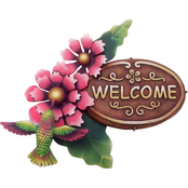 Penn Talavera Metal Welcome Plaque #PL8