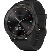 Garmin Men's/Women's vivomove 3 Silicone Band Hybrid Smartwatch 010-02239