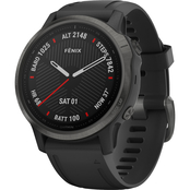 Garmin Fenix 6S Sapphire Carbon Gray with Black Band Multisport GPS Smartwatch