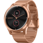 Garmin Men's/Women's vivomove Luxe Rose Goldtone Milanese Smartwatch 010-02241-04