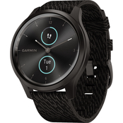 Garmin Men's / Women's vivomove Style Graphite Nylon Band Smartwatch 010-02240-03