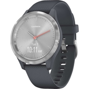 Garmin Men's/Women's vivomove 3S Stainless Steel Silicone Smartwatch 010-02238