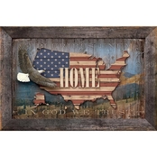 Wild Wings USA Bald Eagle Wood Sign 18 x 12