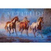 Wild Wings Attitude Horse Wood Sign 18 x 12