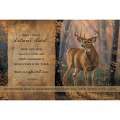 Wild Wings Nature's Heart Whitetail Deer Wood Sign 18 x 12