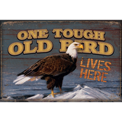Wild Wings One Tough Old Bird Wood Sign 12 x 8