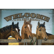 Wild Wings Welcome To Our Neighborhood Wood Sign 12 x 8