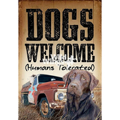 Wild Wings Dogs Welcome Wood Sign 8 x 12