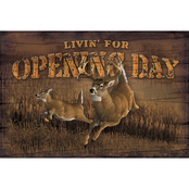 Wild Wings Opening Day Wood Sign 12 x 8