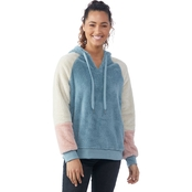 Wallflower Juniors Sherpa Colorblock Tunic Hoodie