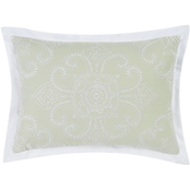 Charisma Belaire Sage Medallion Embroidered Decorative Pillow