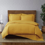 Brooklyn Loom Solid Cotton Percale 3 pc. Duvet Set
