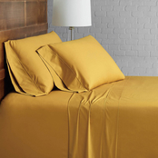 Brooklyn Loom Solid Cotton Percale 4 pc. Sheet Set