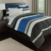 Royale Linens Rugby Stripe Bed in a Bag