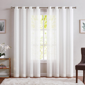 Charisma Sheer Window Curtain Panels 50 x 84 in. 2 pk.