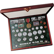 American Coin Treasures Comprehensive World War II Coin & Stamp Set