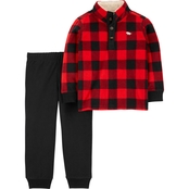 Carter's Buffalo Check Pullover Top and Jogger Pants 2 pc. Set