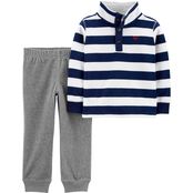 Carter's Infant Boys Fleece Pullover Top and Jogger Pants 2 pc. Set