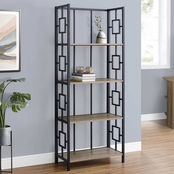 Bookcase - 62H - Black - Black Metal Etagere