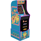 Arcade 1UP Ms. PAC-MAN Arcade with Lighted Marquee and Riser