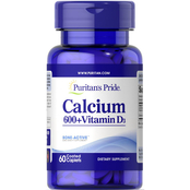 Puritan's Pride Calcium Carbonate 600 mg with Vitamin D 125 IU
