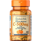Puritan's Pride Vitamin C-500 mg with Rose Hips Time Release 100 ct.