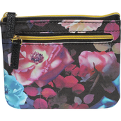 Buxton Midnight Rose Large I.D. Coin/Card Case