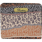 Buxton Animal Patchwork Medium Snap Billfold