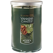 Yankee Candle Balsam and Cedar Large 2 Wick Tumbler Candle