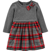 Carter's Infant Girls Holiday Plaid Bow Dress