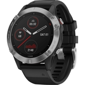 Garmin Fenix 6 Silver with Black Band Multisport GPS Smartwatch