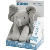 Gund Animated Flappy the Elephant Stuffed Animal Plush 12 in., Gray