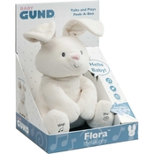 Gund Flora The Bunny Animated Plush Stuffed Animal Toy 12 in., Cream