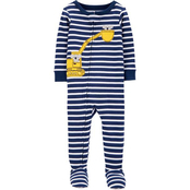 Carter's Infant Boys Construction Snug Fit Cotton Footie Pajamas