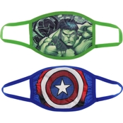 Marvel Kids Hulk and Captain America Face Masks 2 pk.
