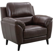 Abbyson Sheila Top Grain Leather Chair