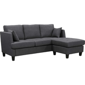 Abbyson Henry Fabric Reversible Sectional