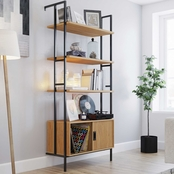 Sauder New Hyde Bookcase with Sliding Door