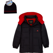 Ixtreme Little Boys Mixed Media Puffer Jacket