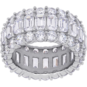 Sofia B. Sterling Silver Cubic Zirconia Eternity Band