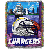 Northwest NFL Los Angeles Chargers Home Field Advantage Tapestry Throw