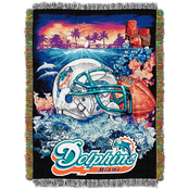 Northwest NFL Miami Dolphins Home Field Advantage Tapestry Throw