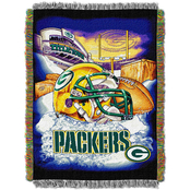 Northwest Green Bay Packers Home Field Advantage Tapestry Throw