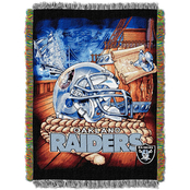 Northwest NFL Oakland Raiders Home Field Advantage Tapestry Throw