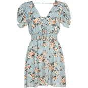 Bailey Blue Juniors Puff Sleeve Printed Dress
