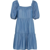 Bailey Blue Juniors Tiered Off the Shoulder Dress