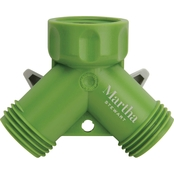 Martha Stewart Collection 2 Way Garden Hose Tap Adapter Y Split Connector
